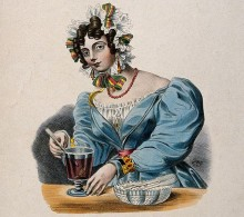 Barmaid mixing a drink